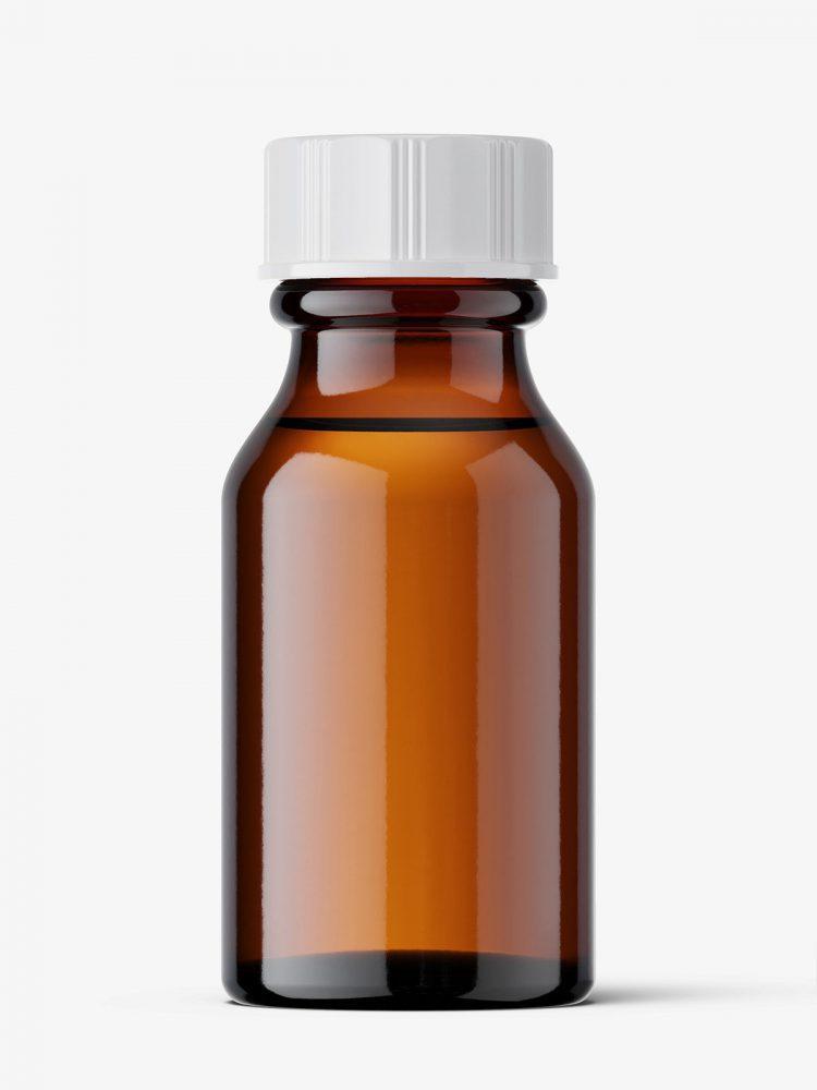 Amber winchester bottle mockup / 15 ml