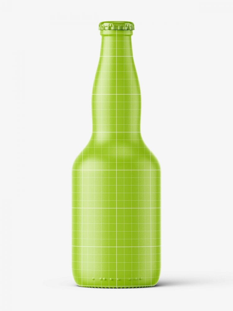 Light beer bottle mockup