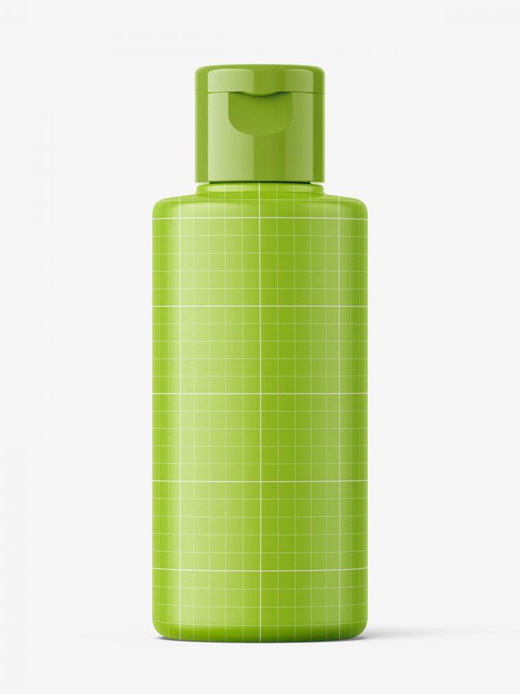 Matt bottle with flip top mockup / 100 ml