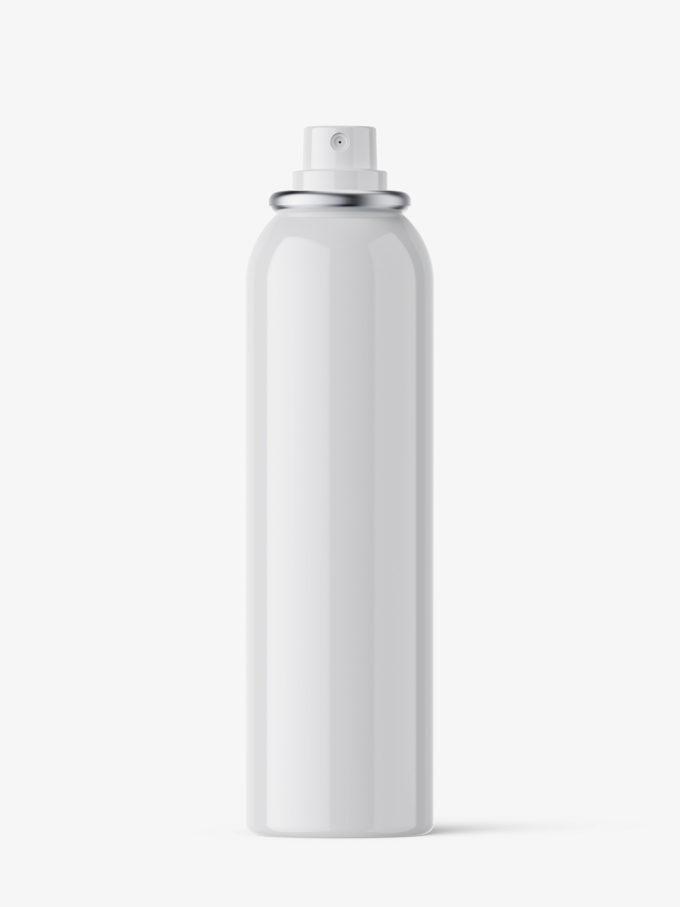 Deodorant spray bottle mockup / glossy / 150 ml