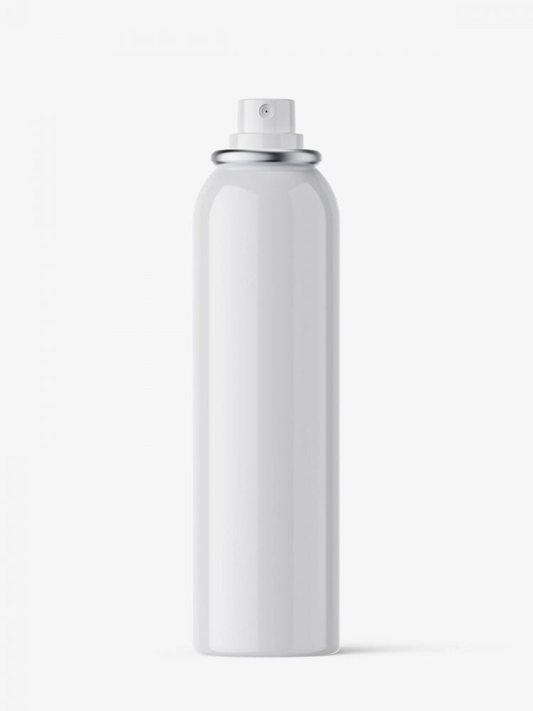 Deodorant spray bottle mockup / glossy / 150 ml