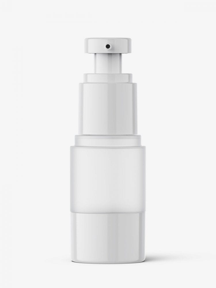 Frosted airless bottle mockup / 15 ml