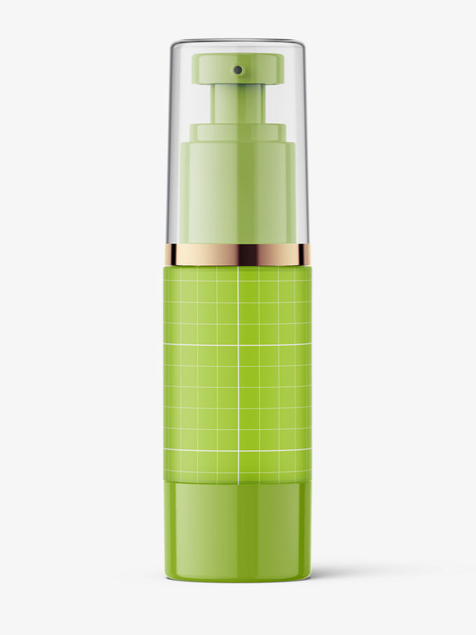 Frosted airless bottle mockup / 30 ml