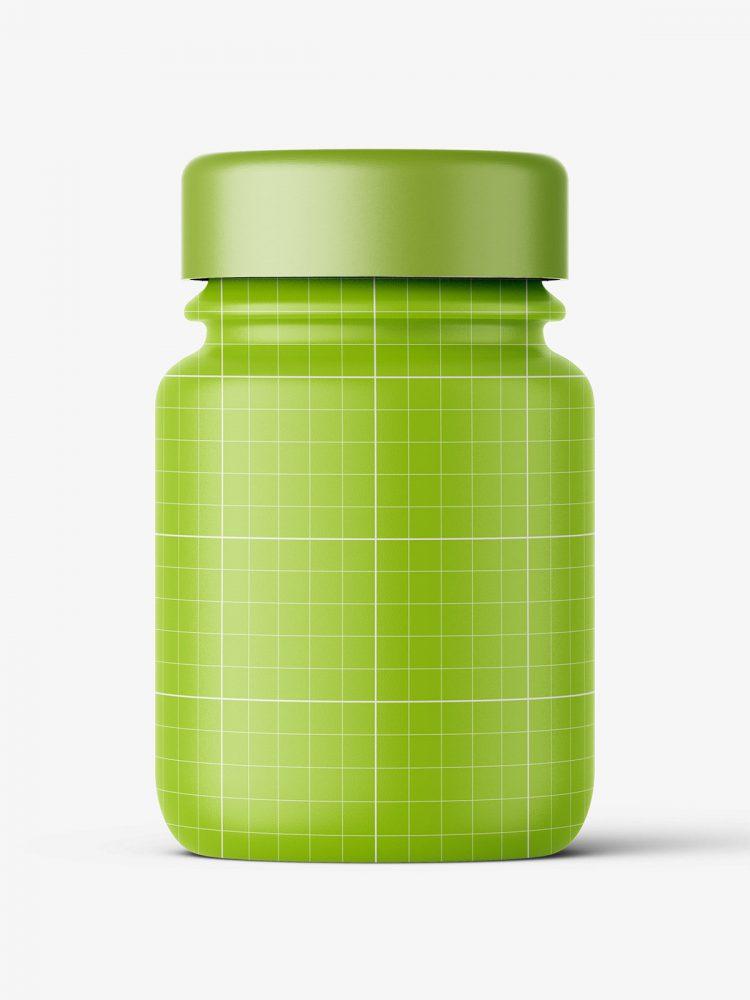 Pharmaceutical jar mockup / 30ml / clear