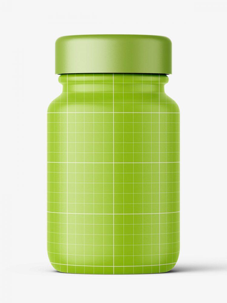 Pharmaceutical jar mockup / 60ml / amber