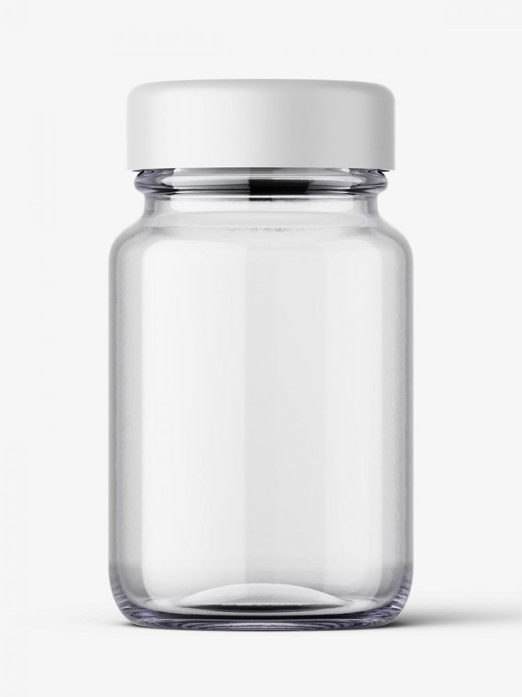 Pharmaceutical jar mockup / 60ml / clear