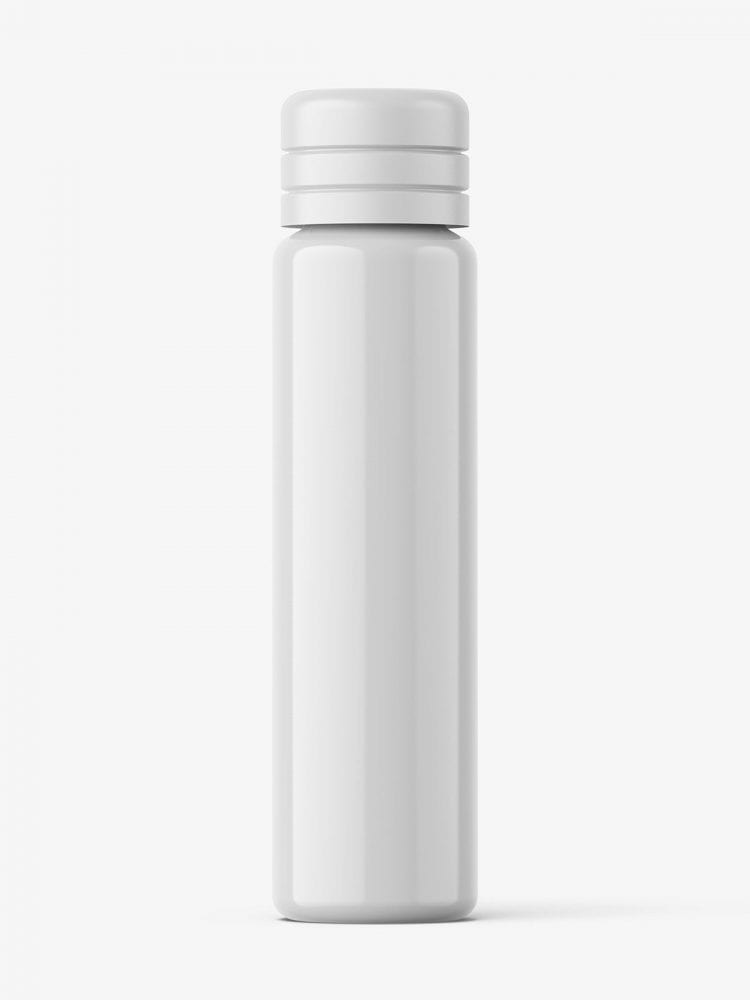 Small glossy vial bottle mockup