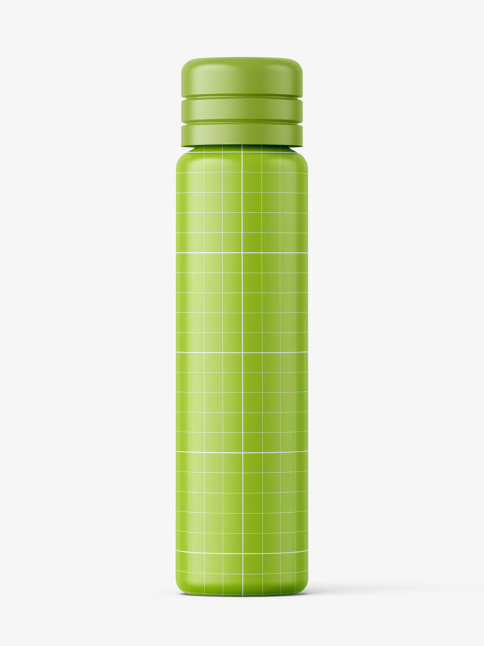 Small matt vial bottle mockup