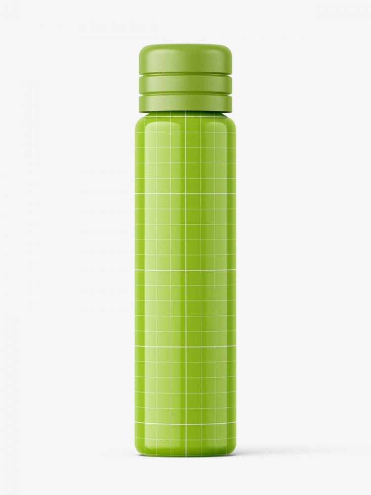 Small glossy vial bottle mockup