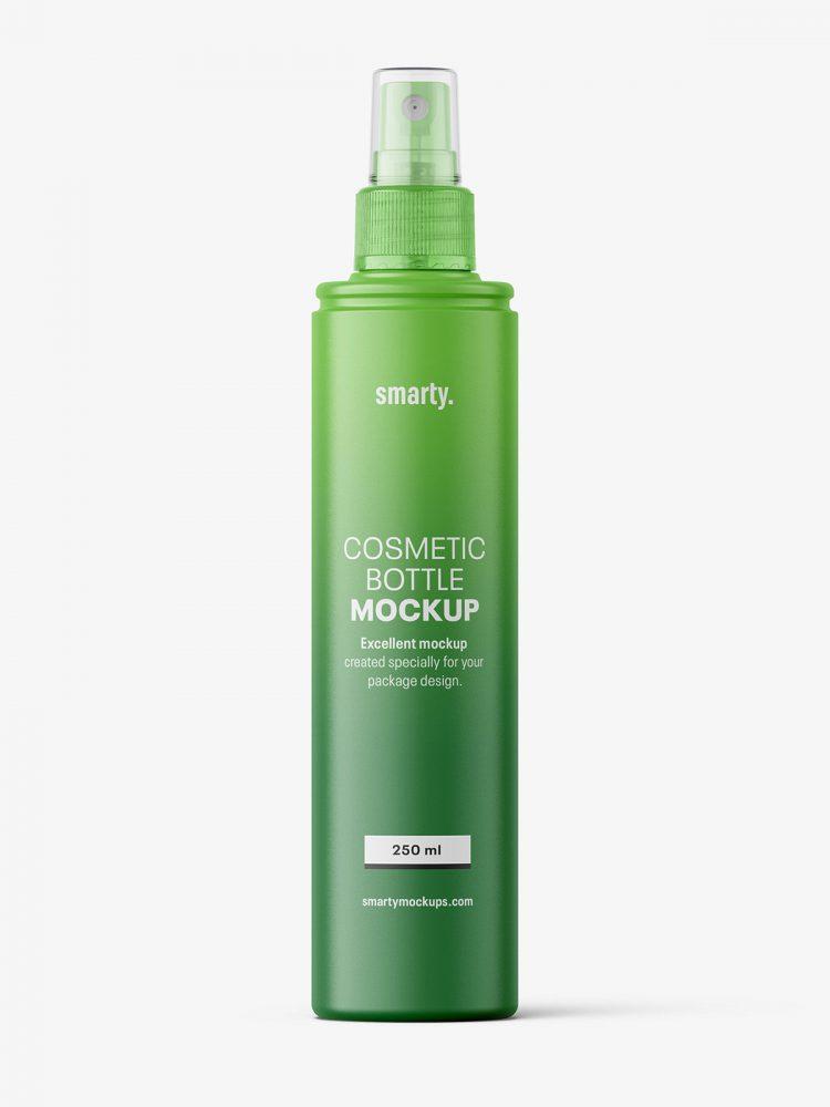 Matt spray bottle mockup
