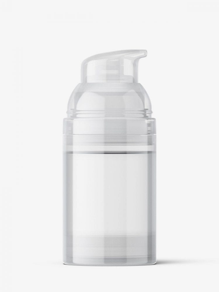 Airless bottle mockup / transparent
