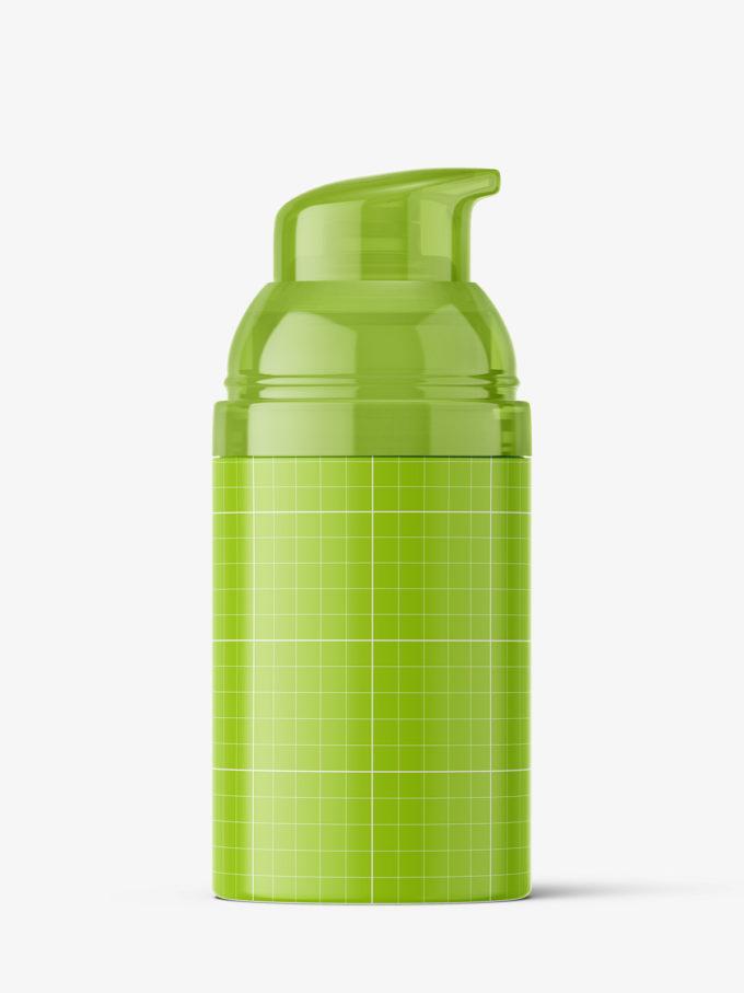 Airless bottle mockup / transparent