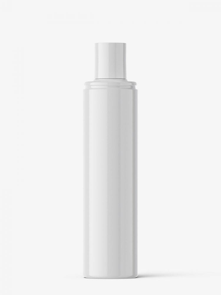 Disc top cap bottle mockup / glossy