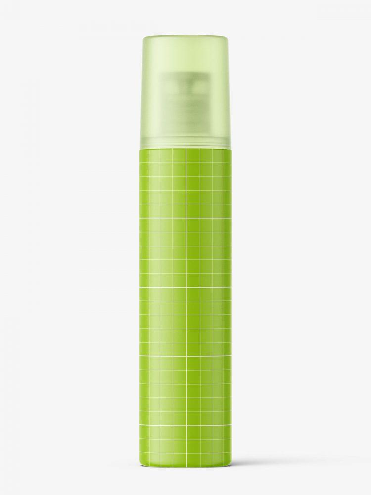 Disc top cap bottle mockup / semi transparent