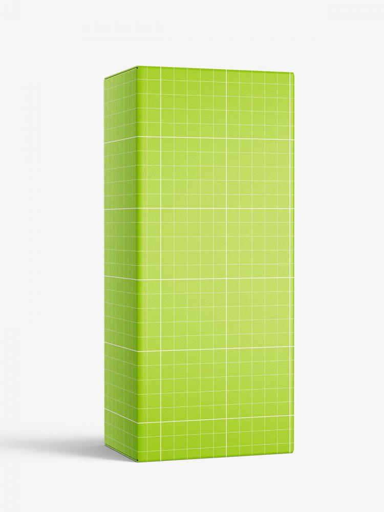 Box mockup / 50x115x35 mm / white - metallic - kraft