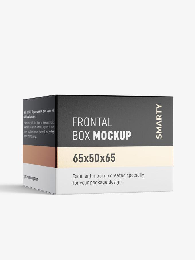 Box mockup / 65x50x65 mm / white - metallic - kraft