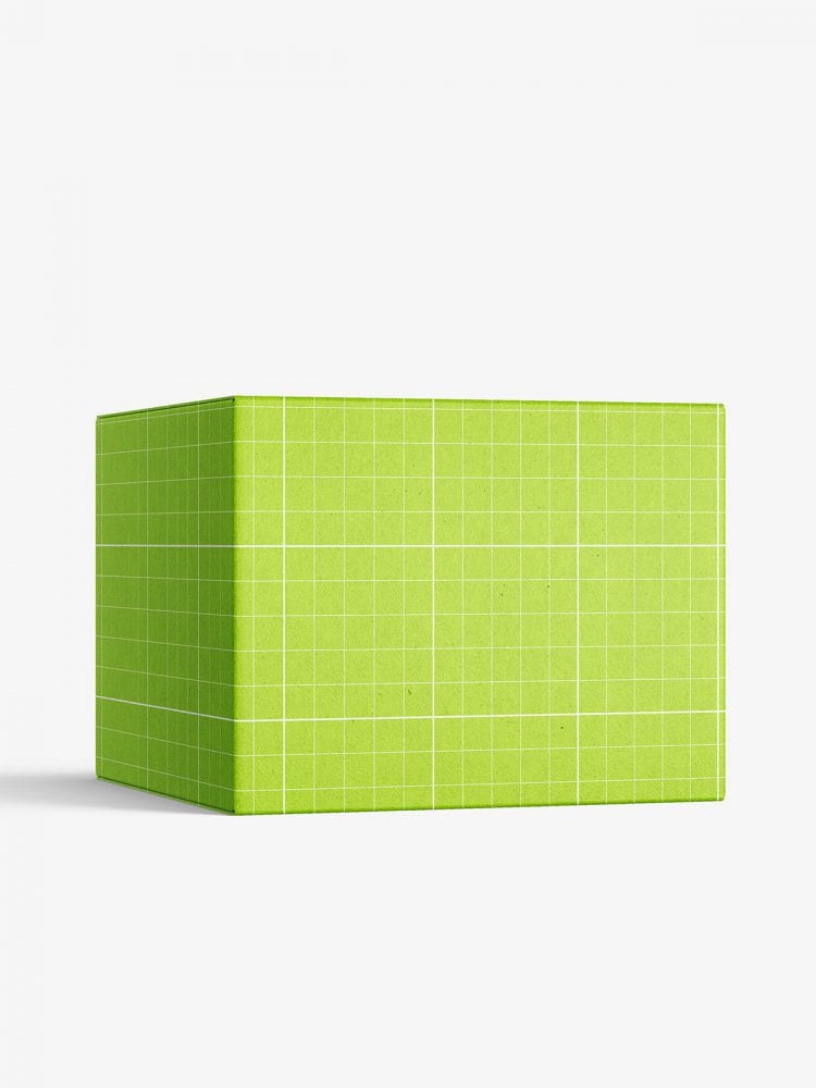 Box mockup / 65x50x65 mm / white - metallic - kraft