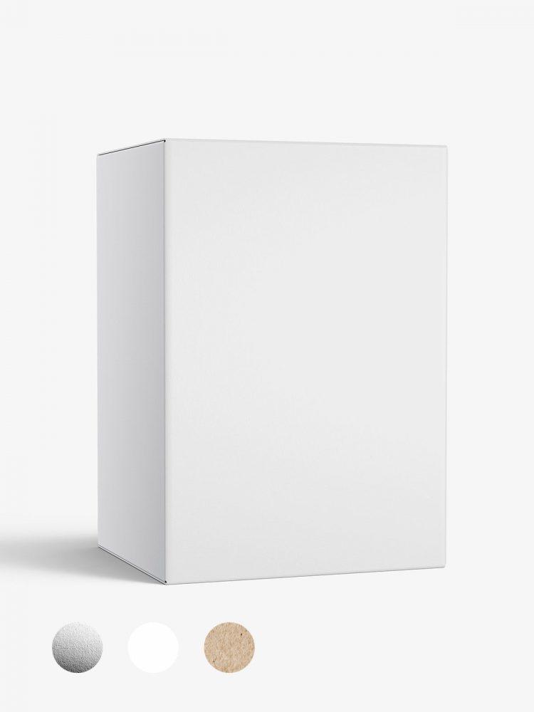 Box mockup / 70x100x60 mm / white - metallic - kraft