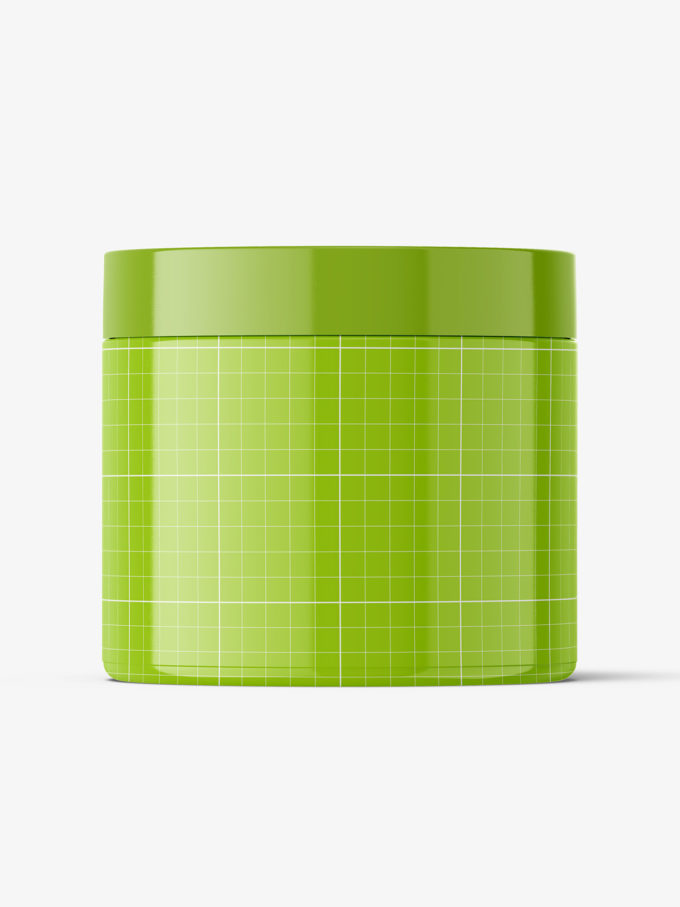 Plastic jar mockup / glossy / 500ml