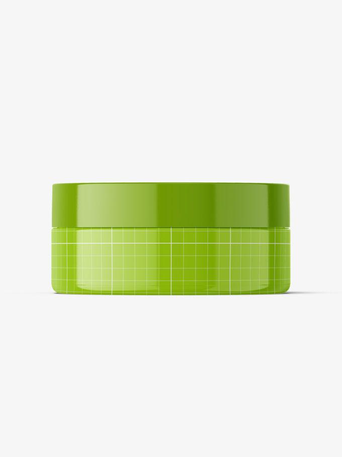 Plastic jar mockup / glossy / 100ml