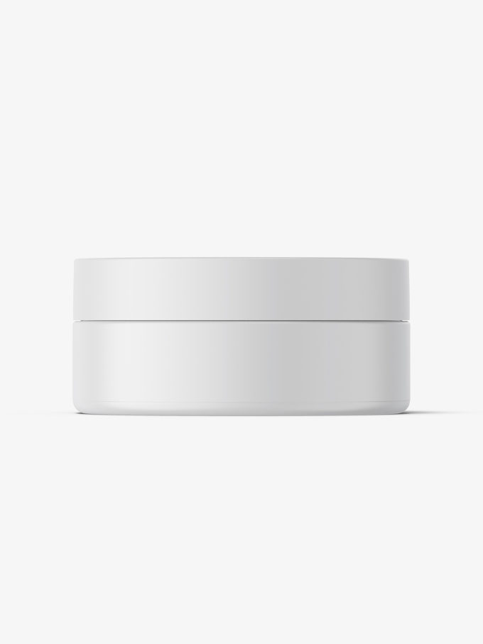 Plastic jar mockup / matt / 100ml