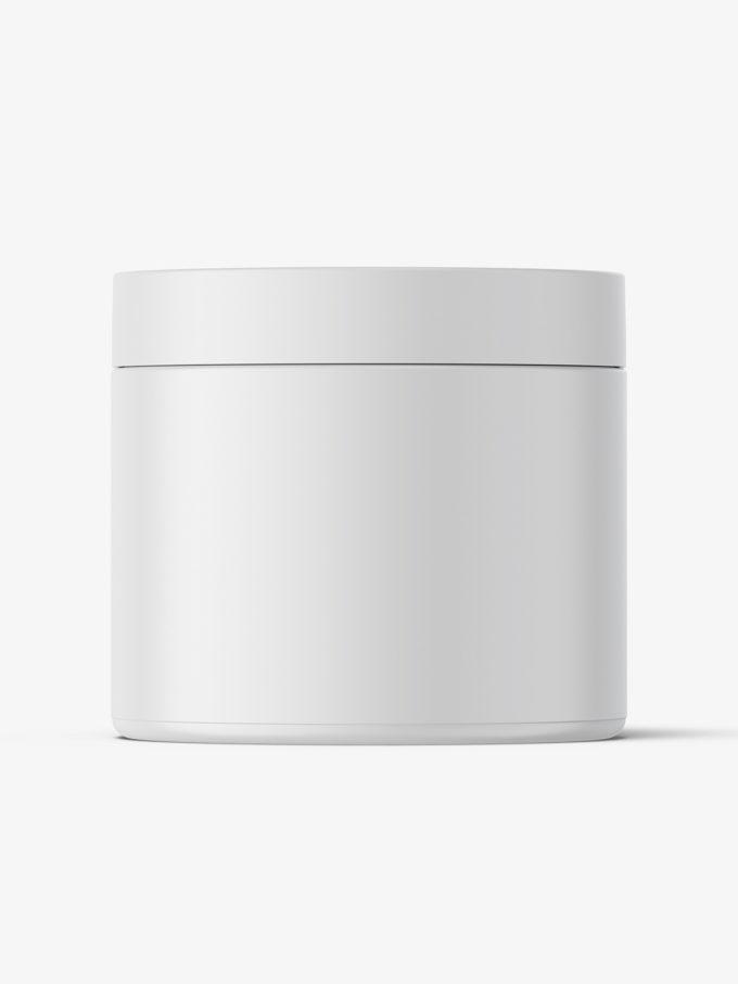 Plastic jar mockup / matt / 500ml
