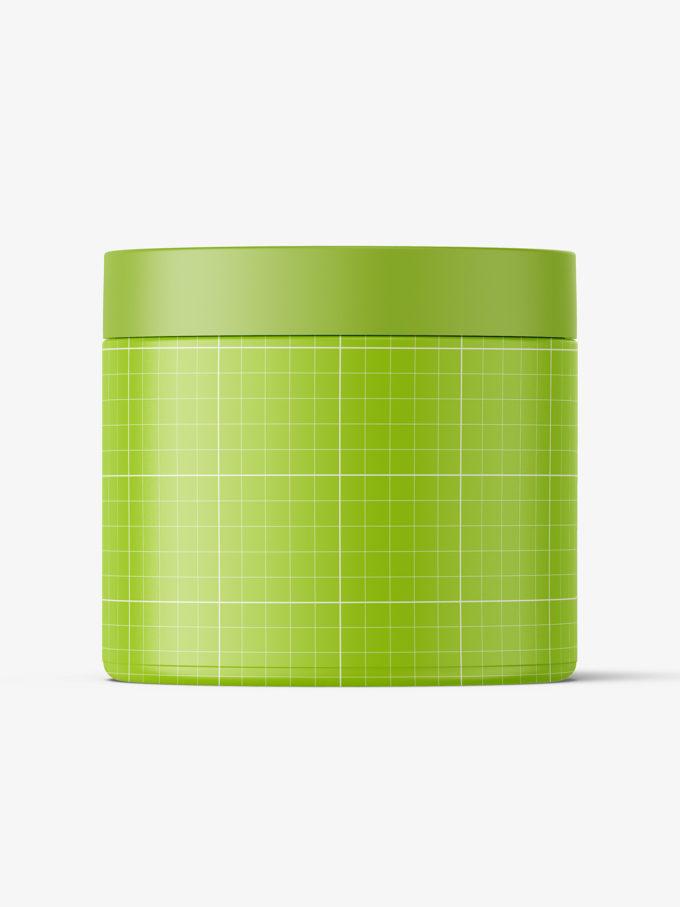Plastic jar mockup / semi transparent plastic / 500ml