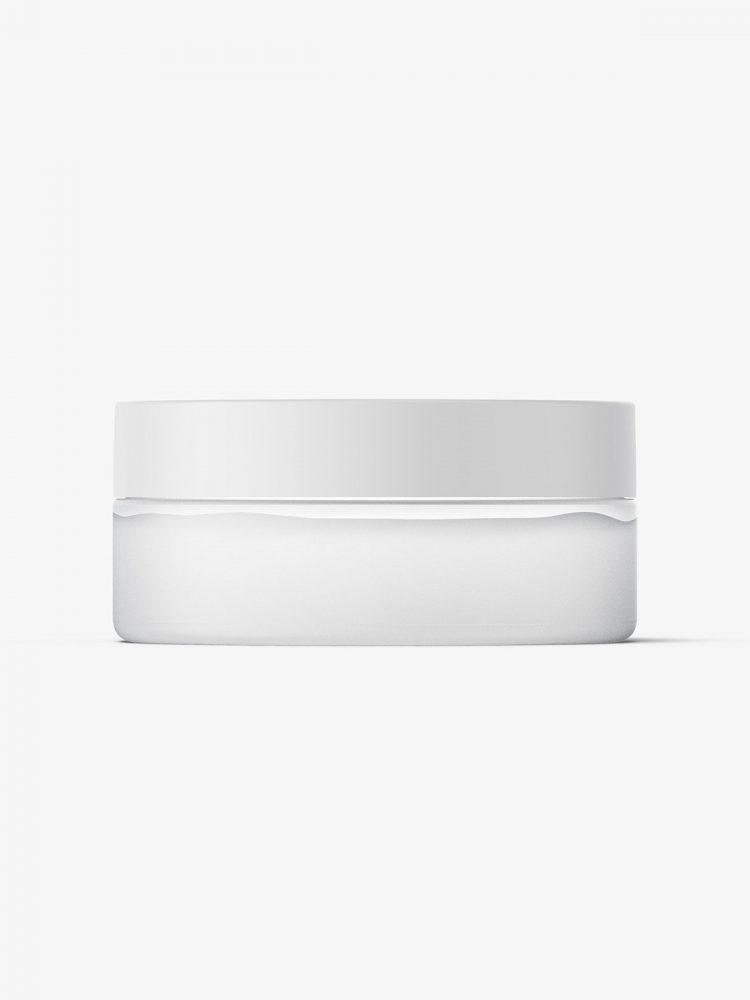 Plastic jar mockup / semi transparent plastic / 100ml