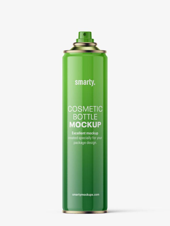 Spray bottle mockup / glossy / 400 ml