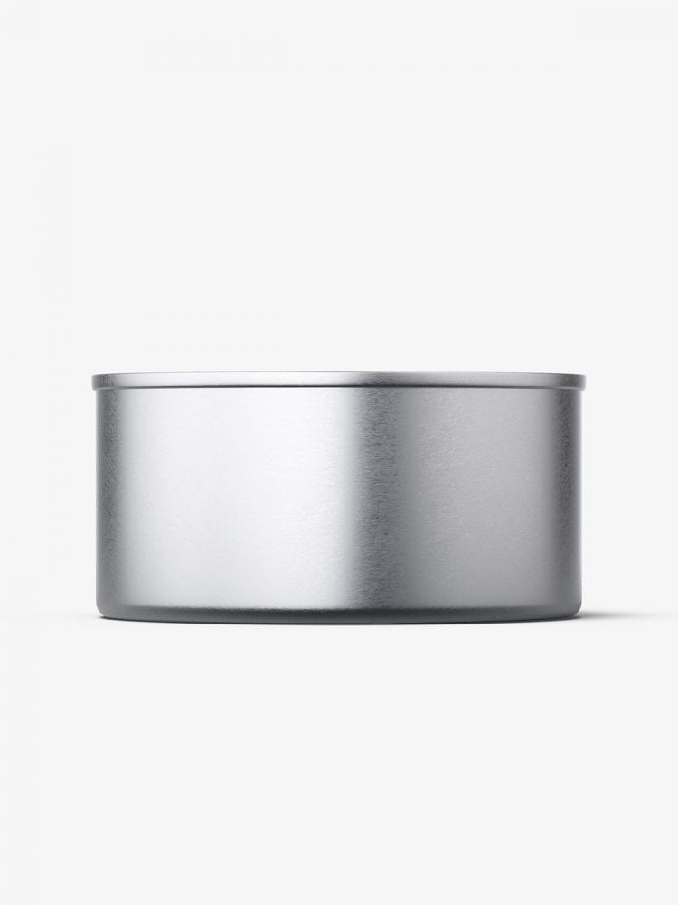 Tin can with label mockup / 185g