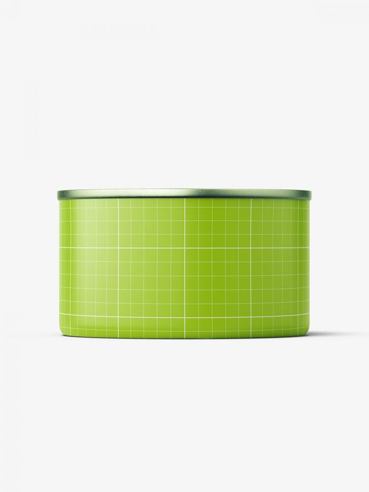 Tin can with label mockup / 95g