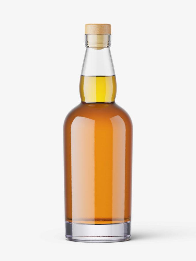 Whisky bottle mockup