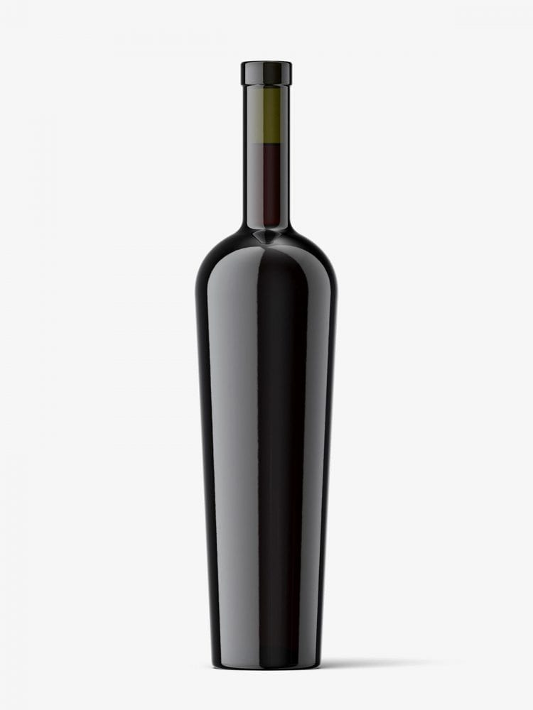 Red wine bottle with and without wax seal