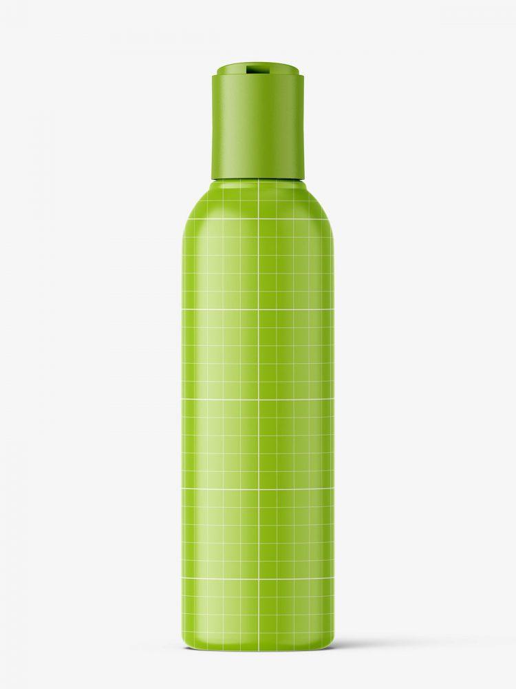 Bottle with disctop mockup / cream