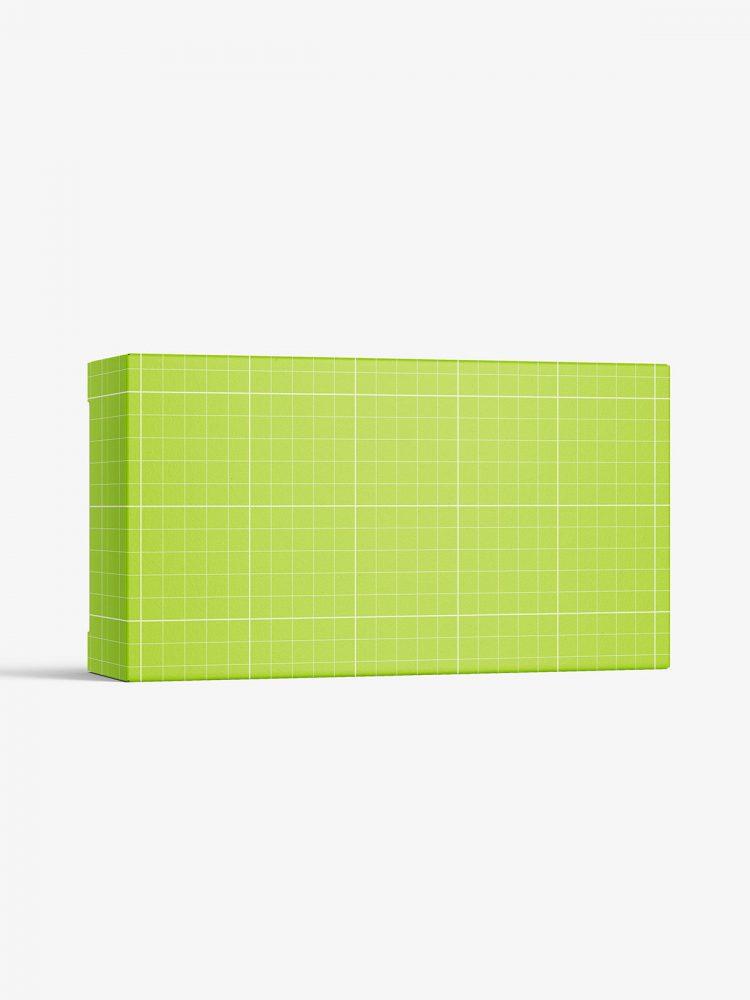 Box mockup / 110x60x30 mm / white - metallic - kraft