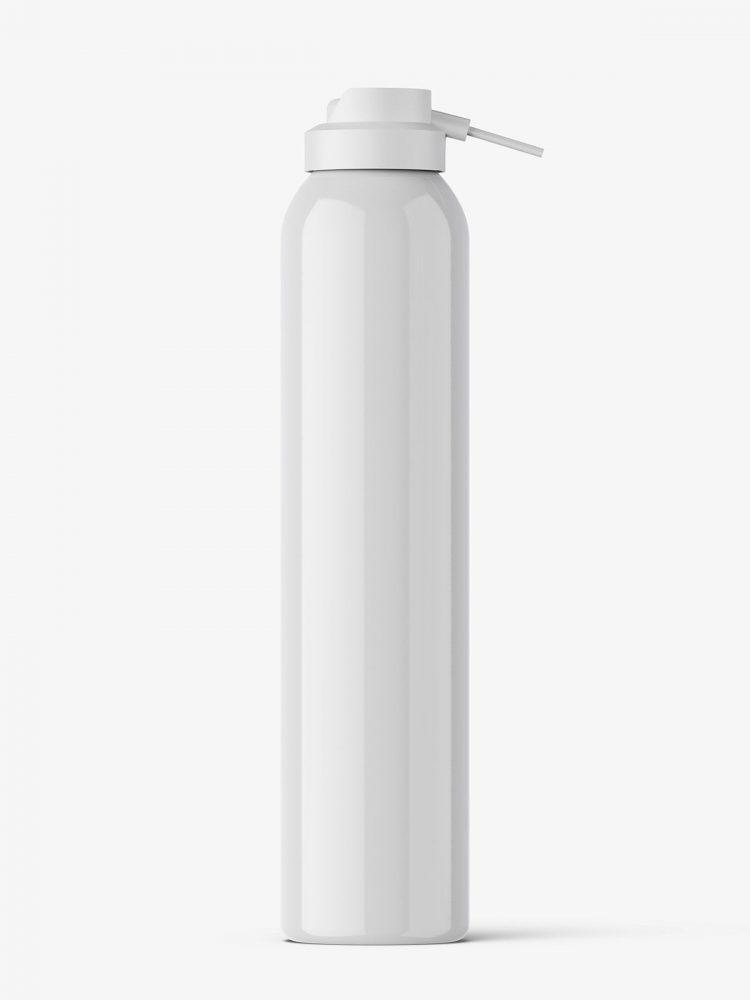 Cosmetic dispenser bottle mockup / glossy