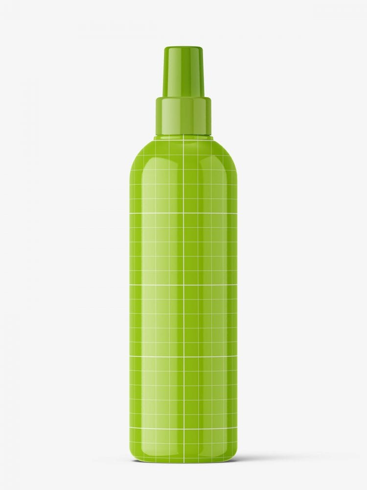 Spray bottle mockup / glossy