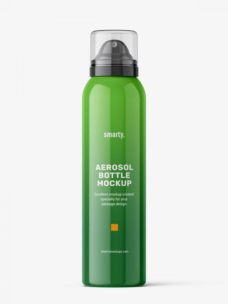 Cosmetic spray bottle mockup / glossy
