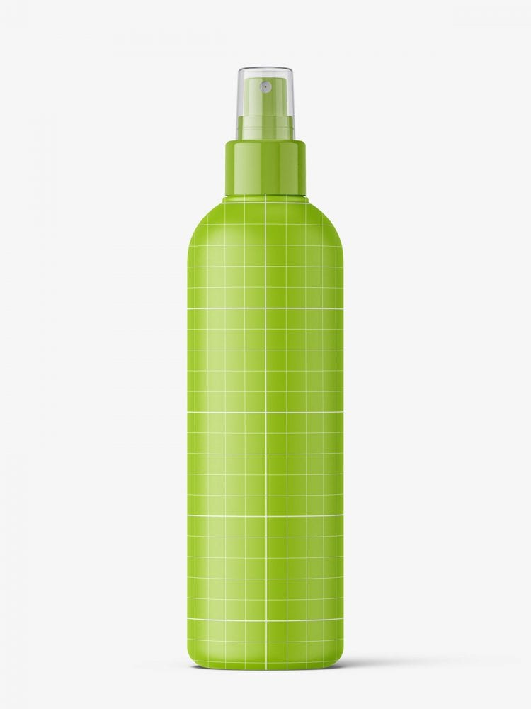 Spray bottle mockup / matt