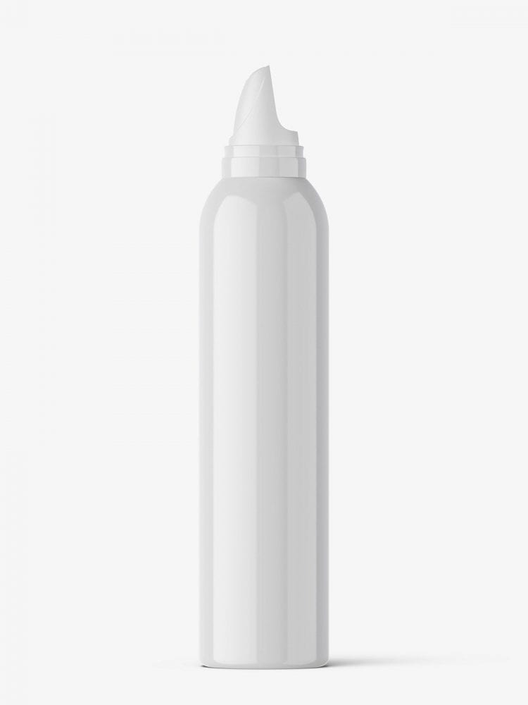 Cosmetic mousse bottle mockup / 300ml / glossy