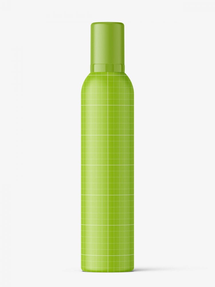 Cosmetic mousse bottle mockup / 300ml / matt