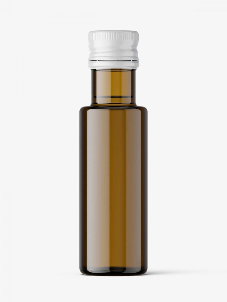 Small oil bottle mockup