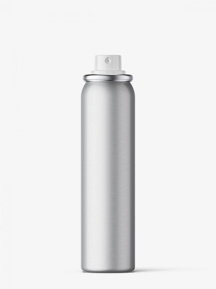 Small cosmetic spray bottle / metallic