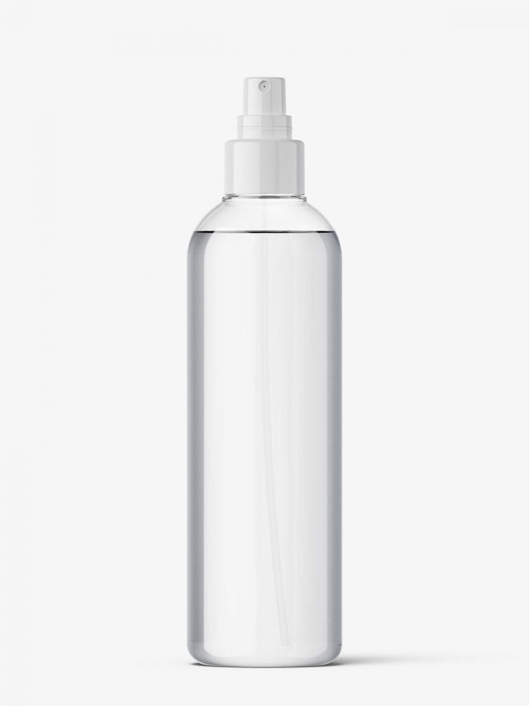 Spray bottle mockup / transparent