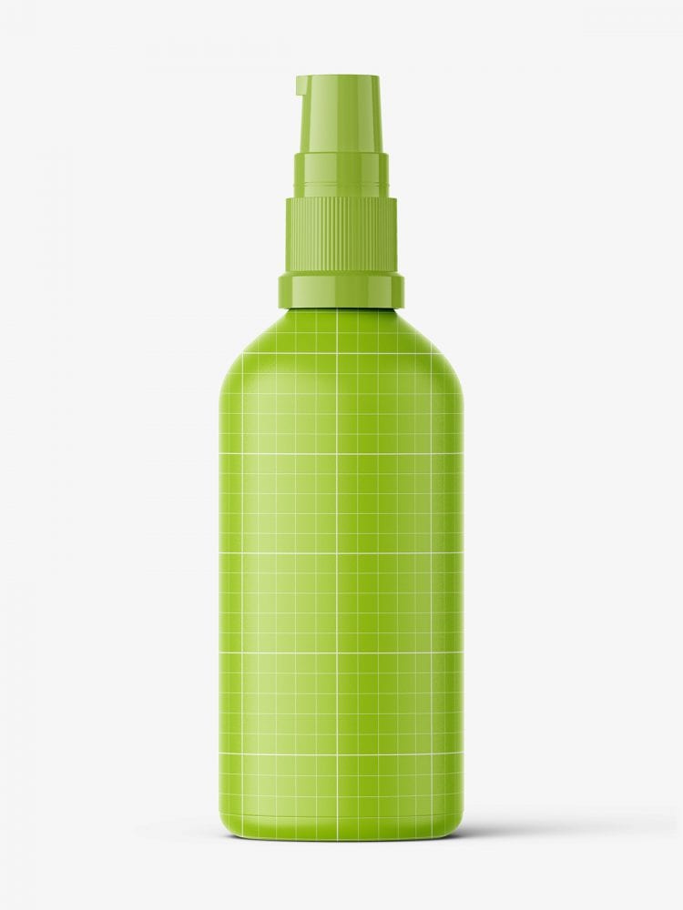 Blue pump bottle mockup / 100 ml