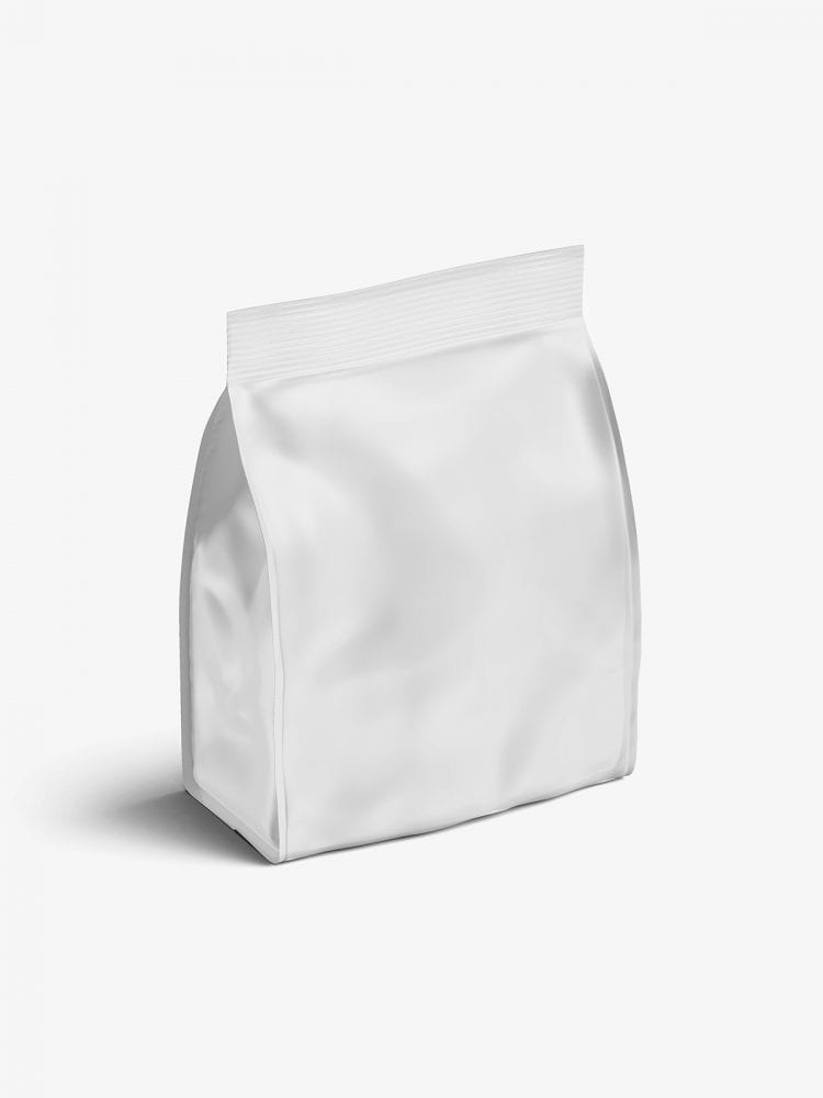 Matt food bag mockup