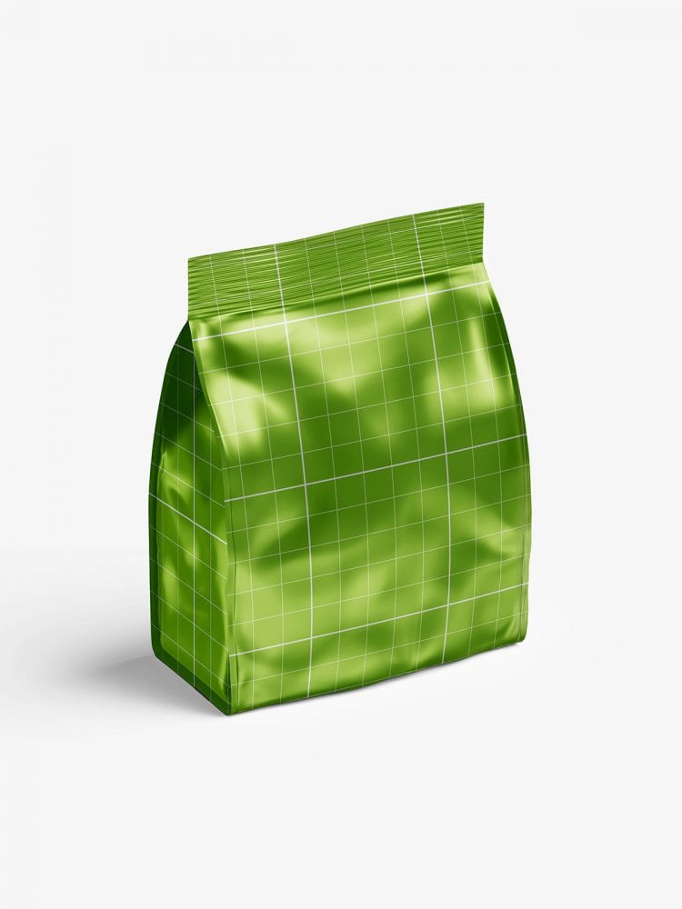 Metallic food bag mockup