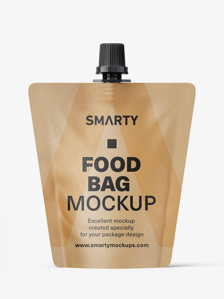 Paper food pouch mockup