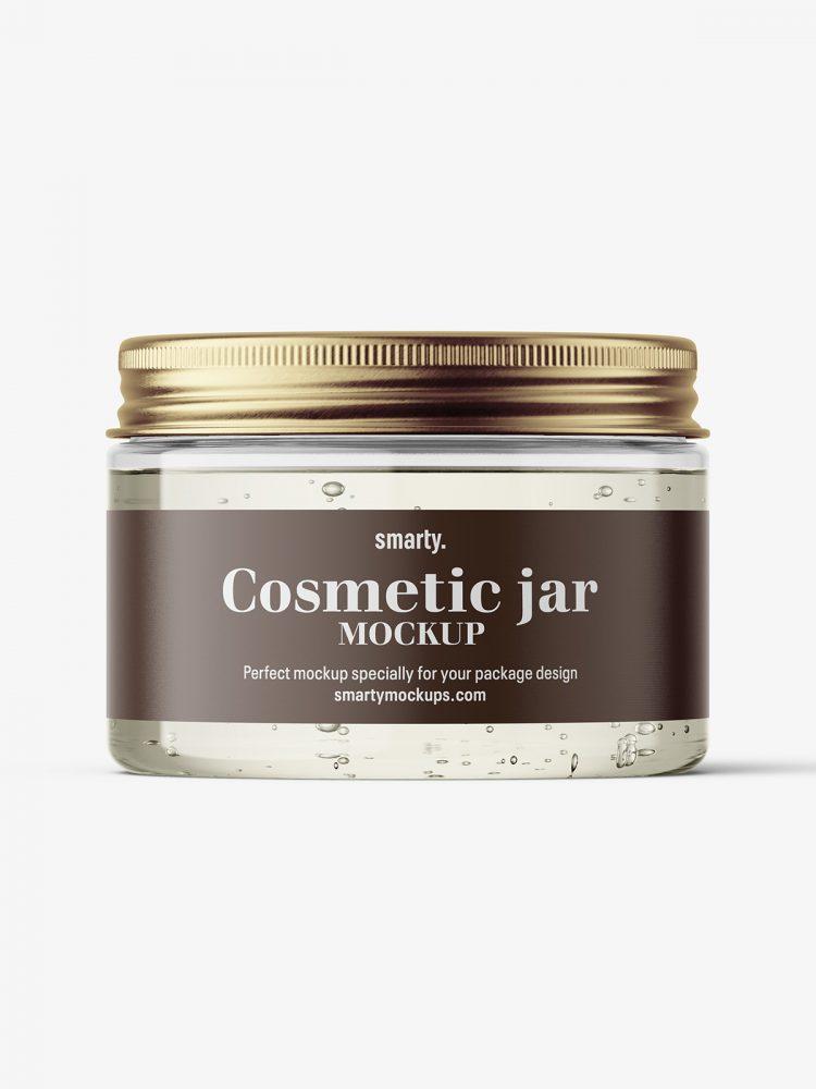 Gel jar with metallic cap mockup / 150ml