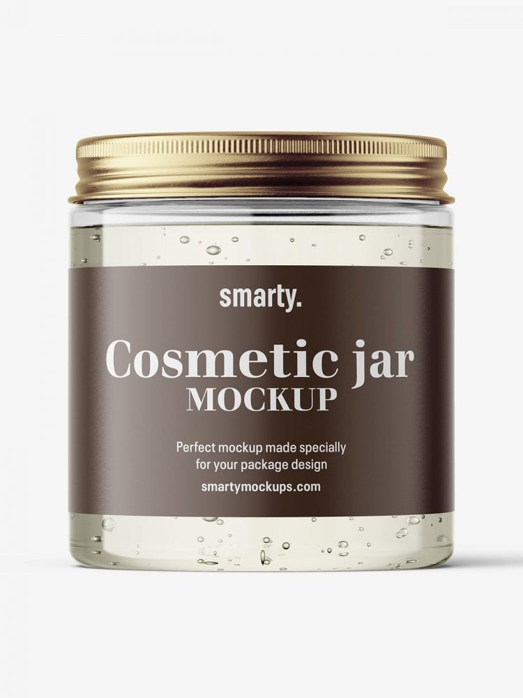 Gel jar with metallic cap mockup / 250ml